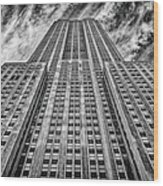 Empire State Building Black And White Square Format Wood Print by John Farnan