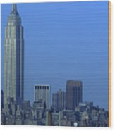 Empire State Building Dusk New York City Wood Print
