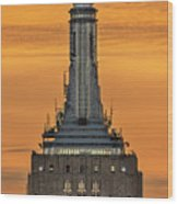 Empire State Building Esb Broadcasting Nyc Wood Print