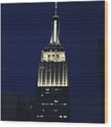 Empire State Building New York City Wood Print