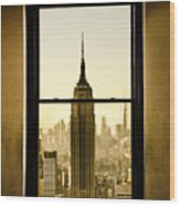Empire State Building View Wood Print