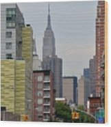 Empire State Empty Street Wood Print