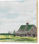 Empty Barn Wood Print