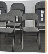 Empty Chairs Wood Print