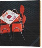Empty Coffee Table Wood Print