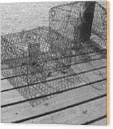 Empty Crab Traps Wood Print