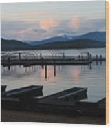 Empty Docks On Priest Lake Wood Print