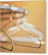 Empty Hangers Wood Print