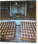 Empty Movie Theater - Urban Exploration Wood Print