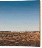 Empty Potato Fields Wood Print