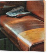Empty Seat Train To Versailles From Paris.  Wood Print