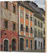 Empty Street In Slovenia Wood Print