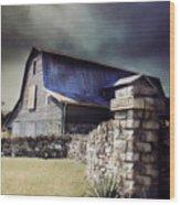 Empyrean Estate Stone Wall Wood Print