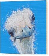Emu Painting Wood Print