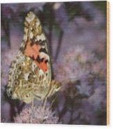 En Garde - Painted Lady - Butterfly Wood Print