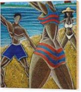 En Luquillo Se Goza Wood Print