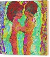 Encaustic  Love Wood Print