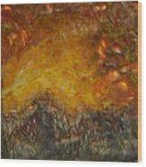 Encaustic Sky Blaze Wood Print
