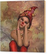 Enchanted Acorn Elf Wood Print