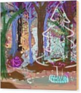 Enchanted Christmas Forest Wood Print