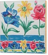 Enchanted Florals Wood Print