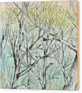 Enchanted Forest Music Wood Print