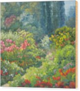 Enchanted Garden Wood Print