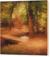 Enchanted Path - Allaire State Park Wood Print