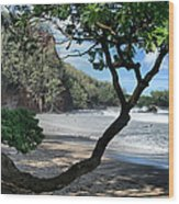 Enchanted Rocks Koki Beach Haneoo Hana Maui Hawaii Wood Print