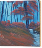 Enchanted Surrealism Wood Print by Cynthia Adams