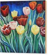 Enchanted Tulips Wood Print