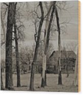 Home In The Wood Wood Print