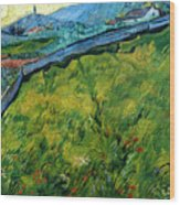 Enclosed Wheat Field With Rising Sun, By Vincent Van Gogh, 1889, Wood Print