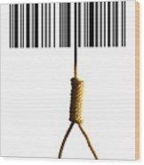 End Of Consumerism, Conceptual Image Wood Print