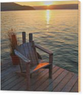 End Of Summer II Wood Print