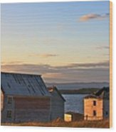 End Of The Day In Trinity Bay, Newfoundland Wood Print