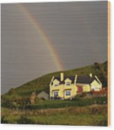 End Of The Rainbow Wood Print by Mike McGlothlen