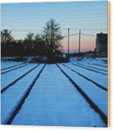 End Of The Tracks Wood Print