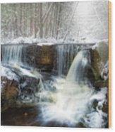Enders Ice Square Wood Print