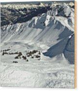 Endless Cpr Ridge At Kicking Horse Wood Print