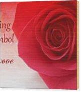 Enduring Symbol Of Love Wood Print