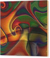 Energetic Wood Print