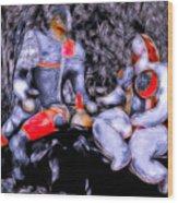Energetic Twosome Wood Print