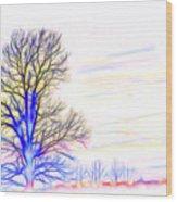 Energy Tree Wood Print