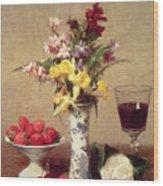 Engagement Bouquet Wood Print