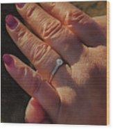 Engagement Ring Wood Print