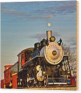 Engine 509 At Crossville Tennessee Puffing Wood Print