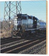 Engine 5664 Passing Bye Wood Print