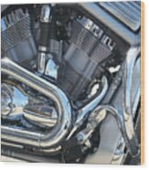Engine Close-up 1 Wood Print