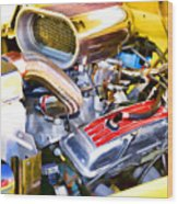 Engine Compartment 5 Wood Print